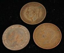 1942-1948 Georgivs VI - LOT OF 3 UK COINS - Bronze -  Very Good Condition
