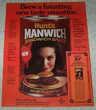 1969 print ad page - Hunt's MANWICH sandwich Sloppy Joe sauce old coupon ADVERT