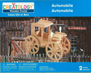 Creatology EARLY AUTOMOBILE - 3D Woodcraft Puzzle Kit - New, Sealed!