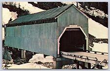 Texas Creek Covered Bridge Hyder, Alaska Prince of Wales-Hyder Chrome Postcard
