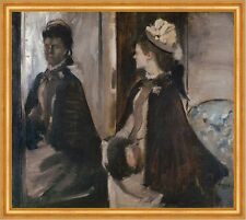 Mrs Jeantaud in the Mirror Edgar Degas Mode Spiegel Frauen Mantel B A2 01432