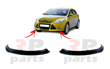 FOR FORD FOCUS 2011 - 2014 NEW FRONT BUMPER LOWER SPOILER BLACK PAIR SET