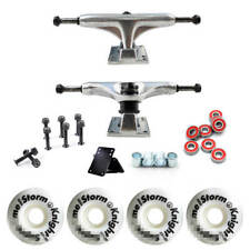 Skateboard Combo 52x30mm Wheels 5inch Trucks Abec-9 Bearings Screw Pad Tube Kit