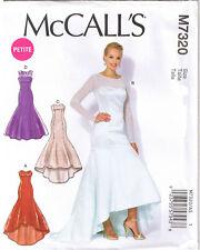 Mermaid Hi Low Hem Sweetheart Neck Dress Formal Sewing Pattern Sz 14 16 18 20 22
