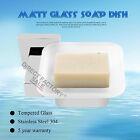Shower Soap Dish Holder Wall Mounted Bathroom Stainless Steel Matt Glass Tray