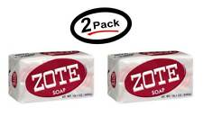 2 Zote Soap Laundry Stain Remover Pink Bar 14.1oz (Pack of 2) Free Shipping