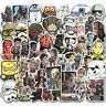 50Pcs Star Wars Graffiti Stickers Bomb Skateboard Luggage Laptop Car Decals Pack