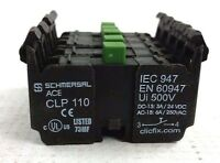 Schmersal CLP-110 Contact Block, NO, 6A 250VAC IEC-947 EN-60947 (Box of 5) NEW