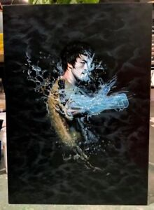 Bruce Lee Water 30x20 oil painting NOT print. Wing Chun Jeet Kune Do Kung Fu .