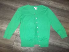 Old Navy Classic Ladies Crew Neck Button Up Sweater 3/4 Sleeve Light Wt Green M