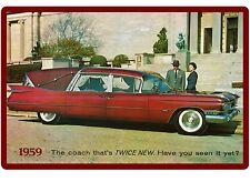 1959 Cadillac Royal Superior Hearse  Auto Refrigerator / Tool Box  Magnet
