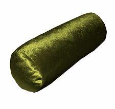mo99g Dark Olive Shimmer Velvet Bolster Cover Neck Roll Yoga Case Custom Size