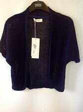 Per Una Lace Short Sleeve Open Front Cardigan Size: 12