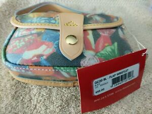 Dooney & Bourke QC20 BL Candy Pattern Leather Flap Wristlet nwt