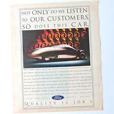 FORD Synergy 2010 / Advert Publicidad Pubblicita Reklame Publicite Concept Car