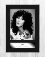 Cher A4 signed mounted photograph picture poster. Choice of frame.