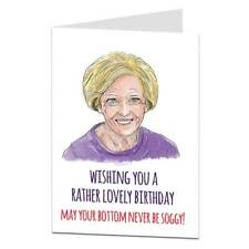 Funny Birthday Card For Her Women Female Mum Sister Best Friend Mary Berry