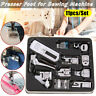 11x Domestic Sewing Machine Presser Feet Set Walking Foot Kit For Brother Singer