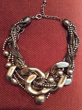 Brass Bib Style Runway Necklace ~ Awesome ~