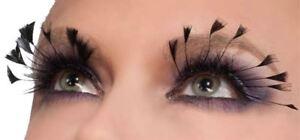 black #1 FAN lashes eyelashes adult womens costume accessory
