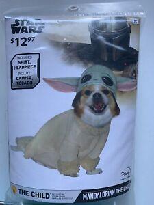DISNEY STAR WARS THE MANDALORIAN BABY YODA Dog 2 Piece Costume Size M