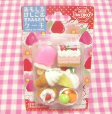 Iwako / Cake & Ice Cream 6 Erasers / Made in Japan Eraser