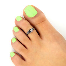 toe ring adjustable toe ring (T-126) sterling silver 925 toe ring flower