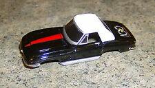 """""""NEW"""" AW T JET 500 BLACK/WHITE '67 CHEVY CORVETTE ROADSTER HO SLOT CAR BODY"""