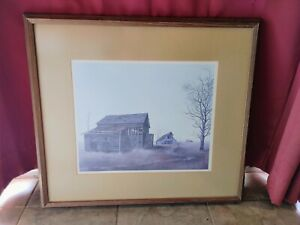 """Herb Jones Print """"Road to Nowhere"""" Signed Limited Print /1800 Matted & Framed"""