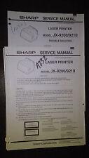Sharp jx-9200 9210 service manual original repair 2 book lot laser printer