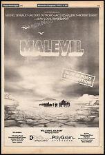 MALEVIL__Original 1981 Trade AD promo / poster__MICHEL SERRAULT__JACQUES DUTRONC