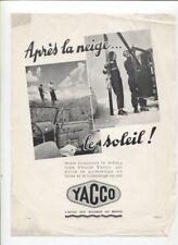 N°10843 / YACCO prospectus automobile au soleil ey à la neige 1933 ?
