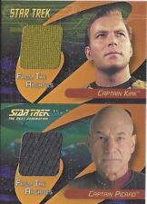 STAR TREK 40th ANNIVERSARY - DC1 DUAL COSTUME Kirk / Picard 2 CASE INCENTIVE