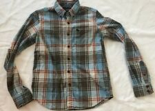 Abercrombie Boys Shirt Sz XL Blue Red Brown White Plaid Beige