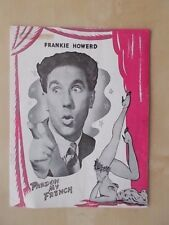 PRINCE OF WALES THEATRE PROGRAMME 1953 PARDON MY FRENCH - FRANKIE HOWERD