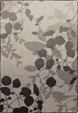 "2x8 Milliken Silhouette Gray Mist Casual Leaves Area Rug - Approx 2'1""x7'8"""
