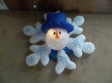 Christmas Gemmy Holiday Snowman Snowflake Animated Lighted VHTF