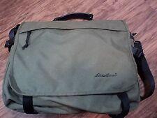 Eddie Bauer Oliver Green Nylon Laptop Bag/ Media Bag, VERY ROOMY,  MUST SEE