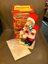 Deluxe Animated Battery and Coin Operated Vintage Santa Bank Christmas Orig Box