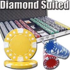 New 1000 Diamond Suited 12.5g Clay Poker Chips Set - Aluminum Case - Pick Chips!