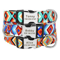 Pet Collars for Dogs Personalized Engraved ID Name Telephone Custom Adjustable