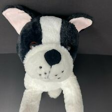 "New ListingBoston Terrier French Bulldog Dog Plush 11"" Black & White Red Pink Ribbon Ears"