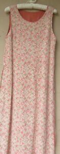 April Cornell Long Reversible Sleeveless Dress  Rose Pattern   Medium