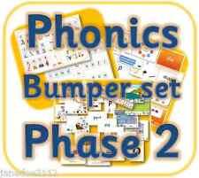 Phonics Lettere & Suoni PHASE 2 completo di risorse di insegnamento Set eyfs KS1 su CD