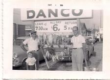 Men & Boy By String of Fish Danco Fishing Boat Charter OHIO Vintage 1959 Photo