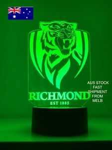 RICHMOND FOOTBALL CLUB TIGERS 3D LED 7 Color Night Light remote Table Lamp AFL.