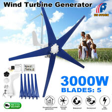 3000W Wind Turbine Generator Unit 5 Blades DC 12V With Power Charge Controller