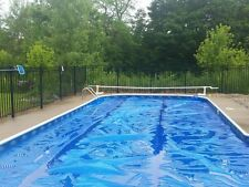 16' x 32' Rectangle Blue Solar Pool Cover 12 Mil Blanket