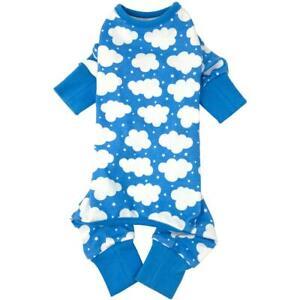 CuddlePup Dog Pajamas - Fluffy Clouds - Blue  XS-S-M-L