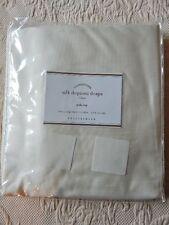 "NEW Pottery Barn Silk Dupioni Drape Panel Curtain Ivory 50"" x 124"""
